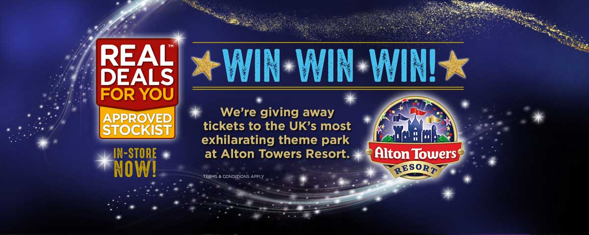 Win tickets to Alton Towers in our Real Deals Competition